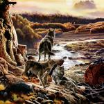 Detail Image of wolves - art by Geoff Taylor